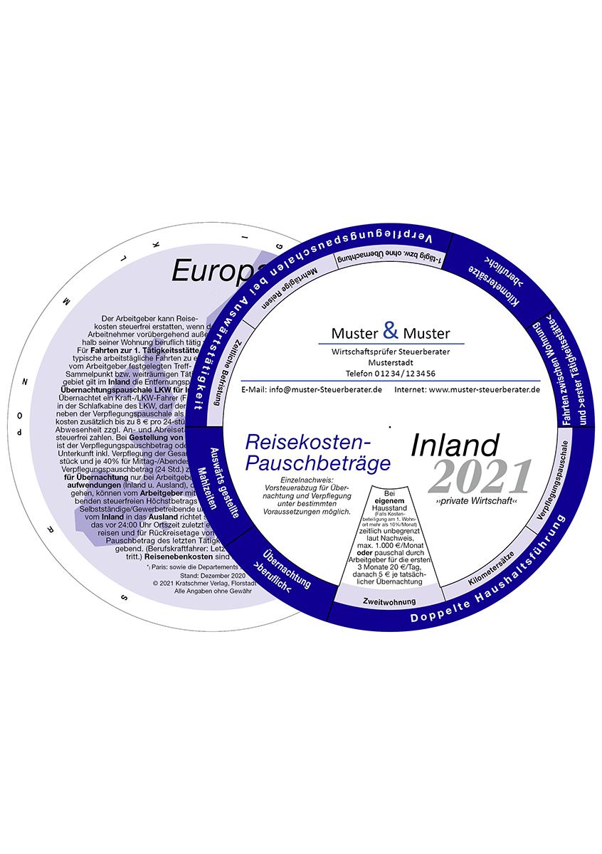 Drehscheibe, individuelle Drehscheibe, Reisekosten-Pauschbeträge Inland