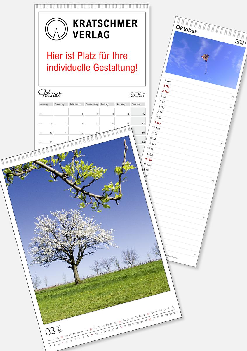 Fotokalender, Wandschmuckkalender, Wandkalender, Streifenkalender, Küchenkalender