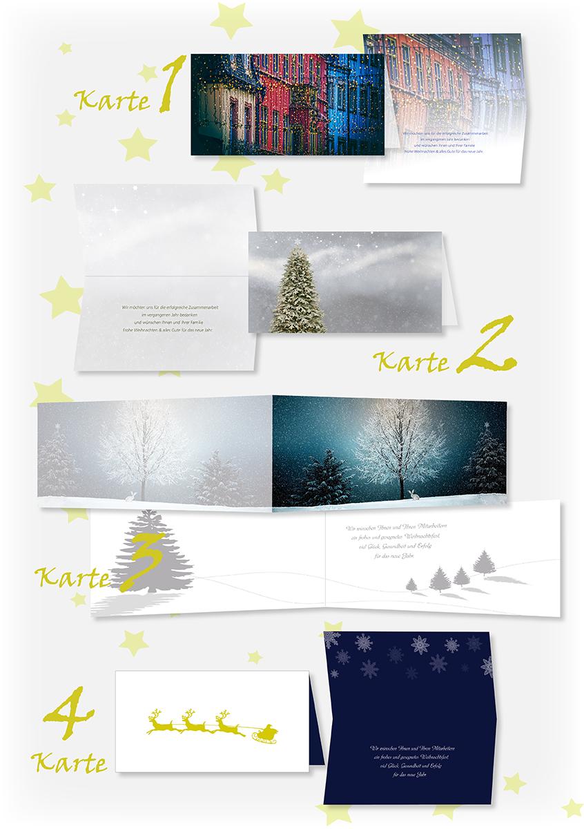 Weihnachtskarten, individuell gestalten