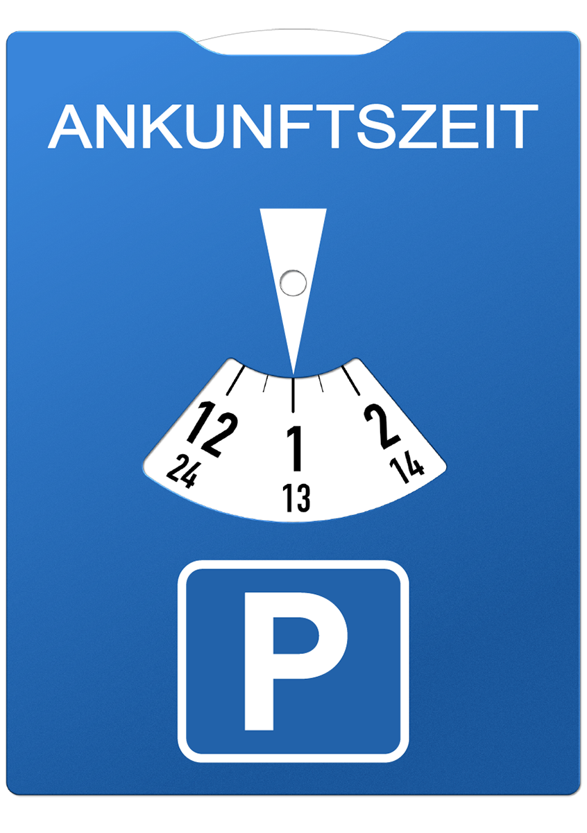 Parkscheibe, Parken, Parkuhr, Ankunftszeit, Parkuhr mit Werbung, Individuelle Parkuhr