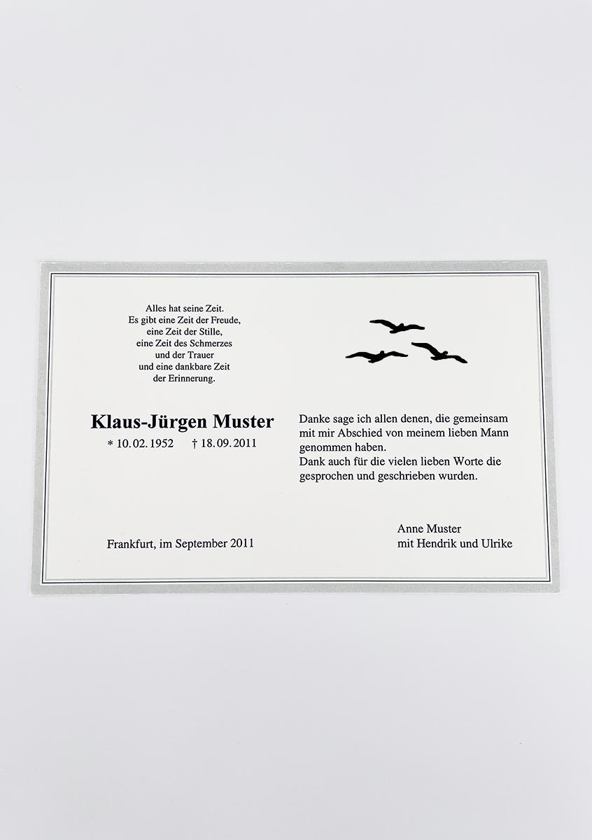 Trauerkarte, Trauerdrucksachen, Trauerbrief, Kondolenzdrucksachen, Trauer, Abschied